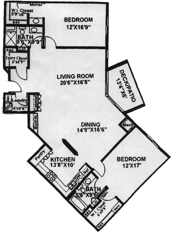 Unit g floor plan at morehouse place Aging in place floor plans
